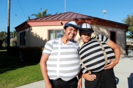 Tweedle Dee and Tweedle Dum, Maye & Karlia – hands down, the best costumes. They took the cake for sure...