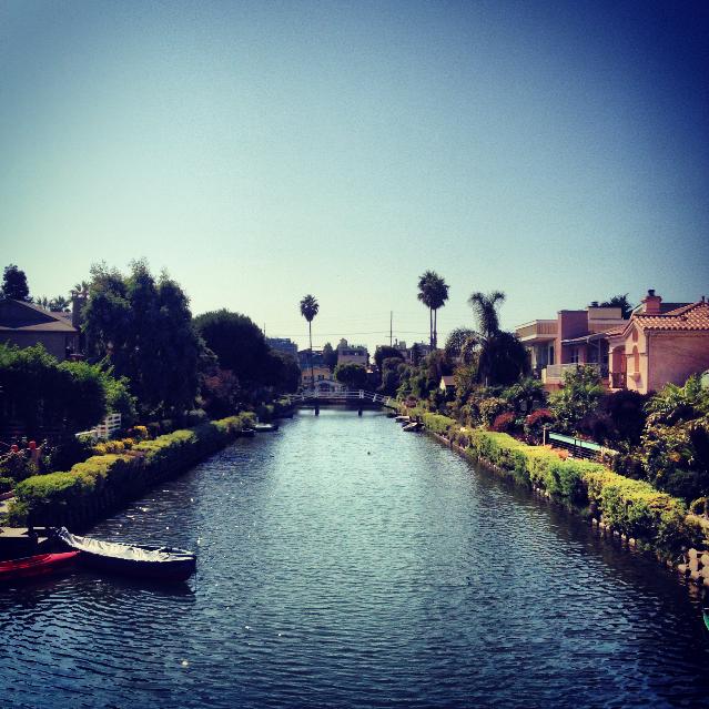 Venice Canal on a footbridge