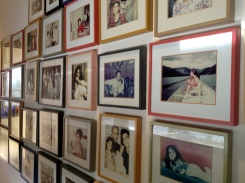 Framed photos spanning the family's picturesque lives.