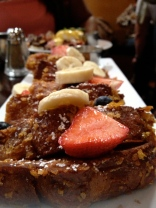 For her 2nd and my 100th serving of the cafe's famous crunchy french toast, succeeded by shopping on Melrose.