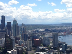 Admiring the skyline again from the top of the Space Needle