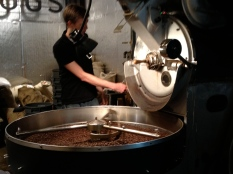 Grind machine at Stumptown Coffee - smelled amazing!