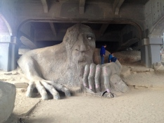 Visiting the Troll under the Fremont bridge